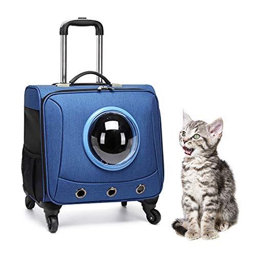 PETVE 18-Zoll-Universalrad Tragbarer Haustier Reisekoffer, Universeller Haustier Koffer Für Katze Und Hund, Transportkoffer Für Haustiere,Blau
