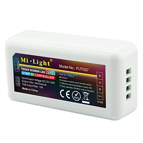 LIGHTEU®, 2,4 GHz Wireless WiFi Steuermodul LED RGB Strips Controller 12-24V max. Ausgang 10A, Milight Miboxer FUT037