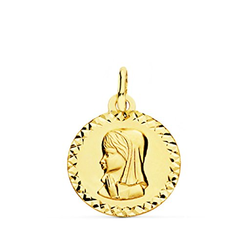 Medalla Bebé/Niña Oro Amarillo 18 ktes Tamaño 16 mm Vírgen Niña