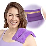 Atsuwell Microwave Heating Pad for Pain Relief - Moist Heat Pad Microwavable for Cramps, Muscles, Joints, Back, Neck and Shoulder - Small Heating Pad for Warm and Cold Compress Therapy (Purple)