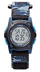 professional Timex Boys TW7C77400 Time Machine Digital Black / Blue Camouflage Watch