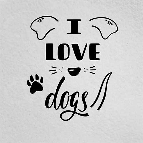 A/X 15 * 13cm I Love Dogs Car Sticker Dog Lover Dog Mom Dog Dad Lovely Humour Vinyl Window Car Laptop Decal