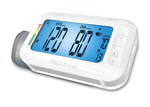 Medisana BU 575 51296, Tensiómetro de Brazo, Función Despertador, Memoria 2 x 180, Pantalla LCD, Indicador OMS, Indicador arritmias, Función Snooze