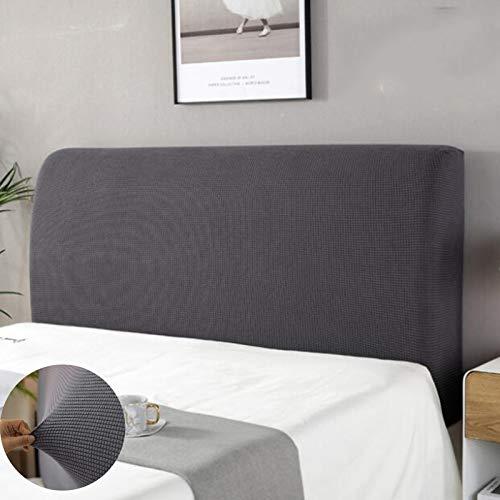 housse tete de lit,Housse de protection de tête de lit Housse De Tête De Lit Lavable Anti-poussière Pack complet 360 ° Gris 150 cm Convient pour une tête de lit 140-170 cm