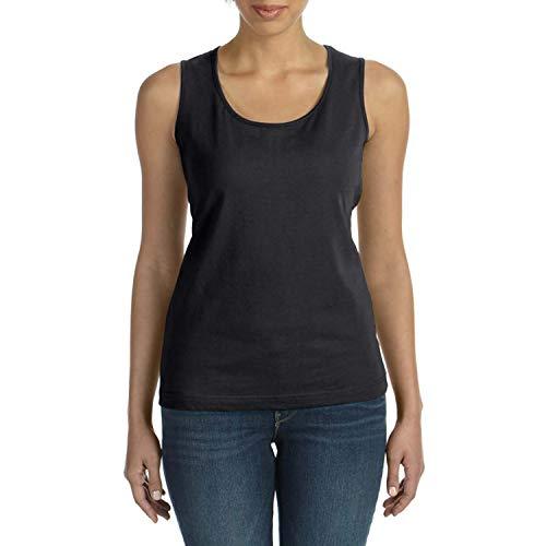 AquaGuard Damen Combed Ringspun Jersey Tank T-Shirt, schwarz, 2X