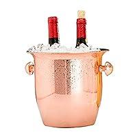 大きな氷のバケツ 5.5L ステンレス鋼のシャンパンのバケツ お手入れが簡単 ドリンク クーラー 果物と野菜のバスケット 冷蔵 ワイン 飲料 ビール パーティー バー キッチン