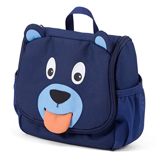 Affenzahn Kulturtasche Bär für 1-3 Jährige Kinder im Kindergarten - Blau