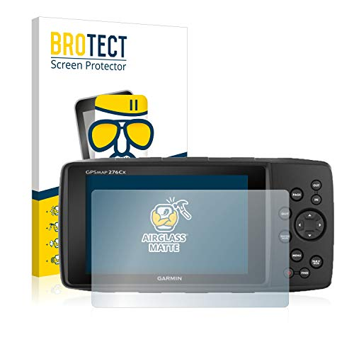 BROTECT Protector Pantalla Cristal Mate Compatible con Garmin GPSMAP 276Cx Protector Pantalla Anti-Reflejos Vidrio, AirGlass