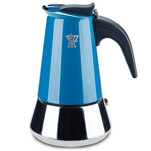 Pezzetti Multi Farbe Induktion Edelstahl Herd Moka Espresso Kaffeemaschine–4,6Tasse 4 Cup multi