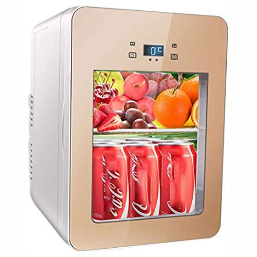 SHIZPHH Portátil Coche del congelador de refrigerador de Cristal Transparente de 20 L con 12V DC y 220V AC eléctrico más Fresco de...