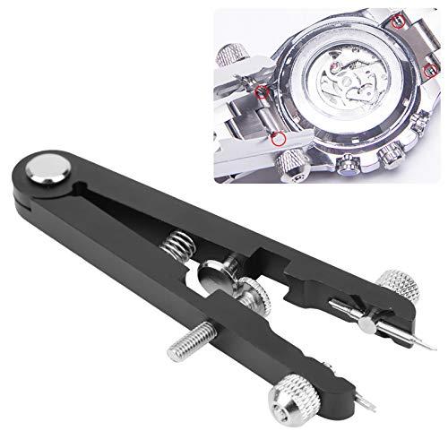 Alicates de barra de resorte Alicates de barra de resorte de acero inoxidable prácticos Alicates de barra de resorte de reloj fuerte para reemplazo de reloj(black)