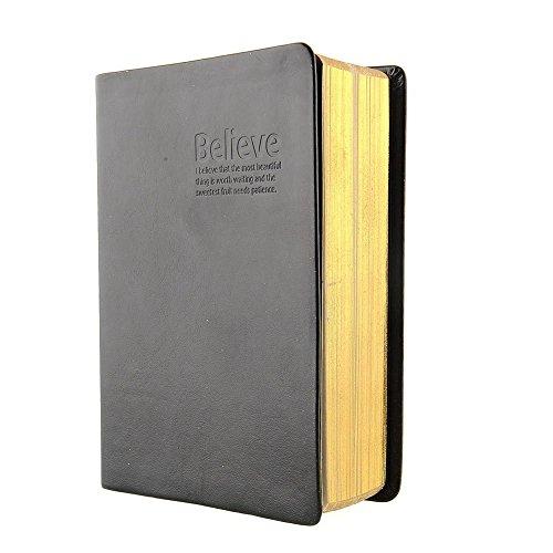 Firbon Libreta de la PU de la Oficina de Viaje del Vintage del Cuaderno Para Mantener el Diario y la Nota (Negro)