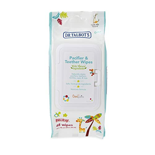 Dr. Talbot's Pacifier and Teether Wipes Naturally Inspired with Citroganix, Vanilla Milk, 1 Pack