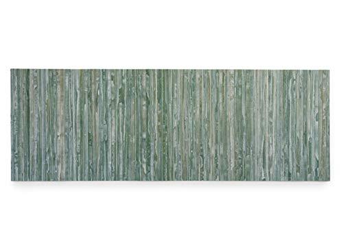 CosìCasa Alfombra de cocina de bambú antideslizante [50 x 180] | Alfombra de cocina de madera con efecto lavado | Alfombra de pasillo larga de colores [50 x 180 cm, verde]
