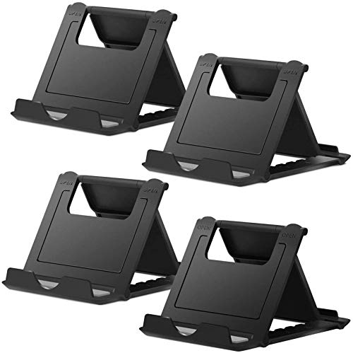 Cell Phone Stand, 4 Pack Tablet Stand, Universal Foldable Multi-Angle Pocket Desktop Holder, Compatible with iPhone 11 Pro Xs Max X 8 7 6s Plus, All Android Smartphones