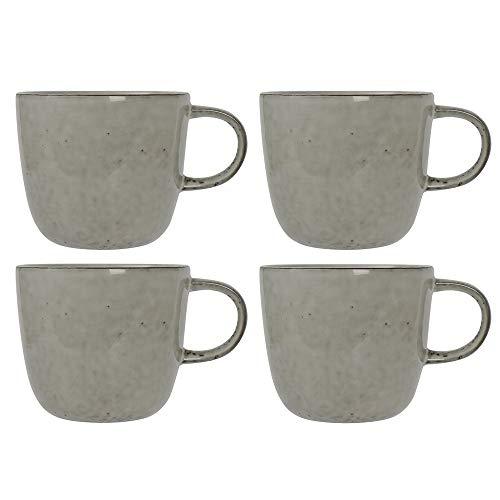 ProCook Oslo Tasse - 4-teilig - Becher - Steinzeug - Grau - handgearbeitetes Design - Steingut - Kaffeebecher