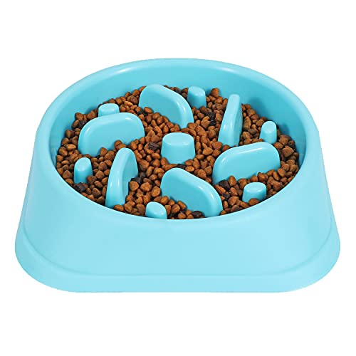 JASGOOD Dog Feeder Slow Eating Pet Bowl Eco-Friendly Durable Non-Toxic Preventing Choking Healthy Design Bowl for Dog Pet Stop Bloat Bowl