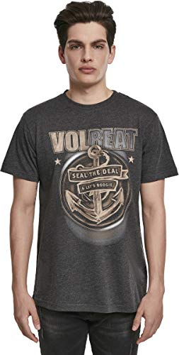 MERCHCODE Jungen Volbeat Seal The Deal Tee 1012_t-shirt Kurzarm, S