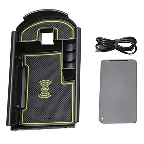 Auto Center Console Opbergdoos Glazen Box 1Lot Mobiele Telefoon Handschoen Box Organizer Aangepast Voor 2018 Toyota C-Hr (Met Draadloze Auto Opbergdoos Zwart