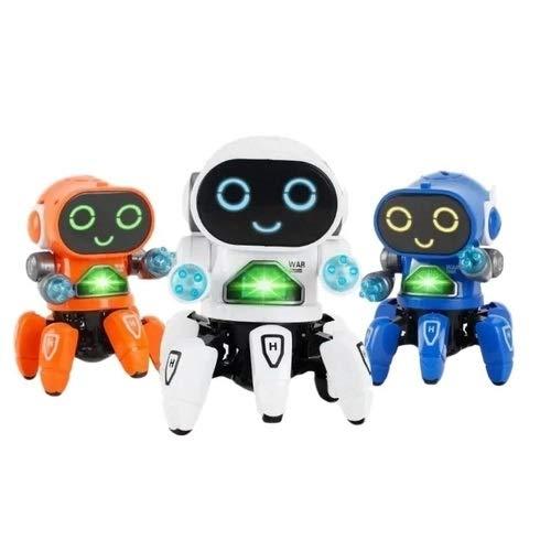 Boneco Eletrônico Robô Amiguinho Luz Movimento E Som dança led