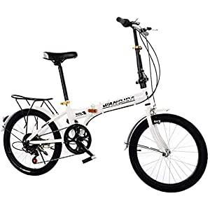 Folding Bikes WSJYP Folding Bicycle, 20 Inch Lightweight Mini Folding Bike,Small Portable Bicycle,Ultra Light Variable Speed Bicycle,Student Road City Bicycle [tag]
