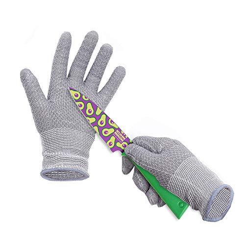 HPHST Schnittsichere Handschuhe für Kinder Kinder Arbeitshandschuhe im Wabendesign A5 Schnittfeste Handschuhe Gartenhandschuhe für 8-12 Jährige Kinder 1 Paar Grau
