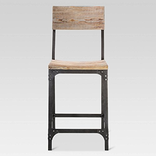 """24"""" Franklin Counter Height Barstool Steel/Natural - Threshold™"""
