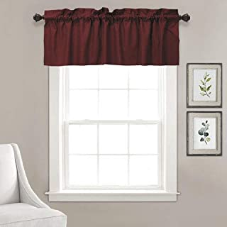 Vargottam Plain Cotton Valance, Decorative Window Rod Pocket Valance Half Drape for Kitchen Window 2 Panel,30x36 Inches, M...