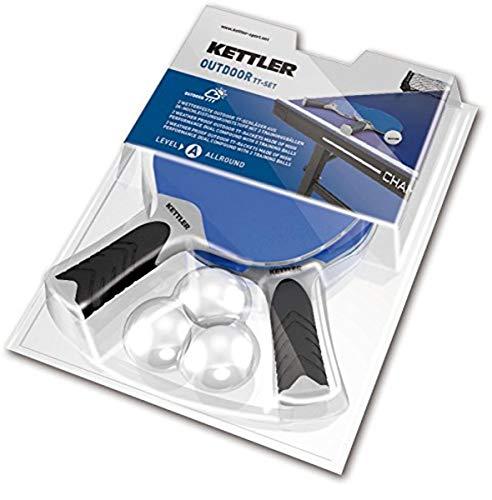 Kettler HALO 5.0 Indoor/Outdoor Table Tennis Bundle: 2 Player Set (2 Rackets/Paddles...