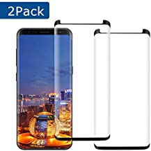 [2 Pack] YRMJK Screen Protector Galaxy S8 Plus Tempered Glas Anti-Fingerprint 9H Hardness 3D Curved Bubble-Free Full Coverage Compatible Samsung Galaxy S8 Plus