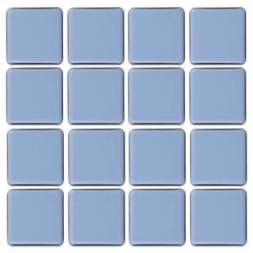 Filzada® 16x Almohadillas de Teflón para Muebles autoadhesivo - 50 x 50 mm (cuadrado) - Deslizadores profesionales de muebles/deslizadores de alfombras PTFE (Teflón)