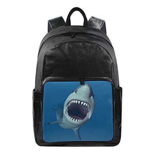LZXO Mochila Escolar Unisex patrón tiburón océano