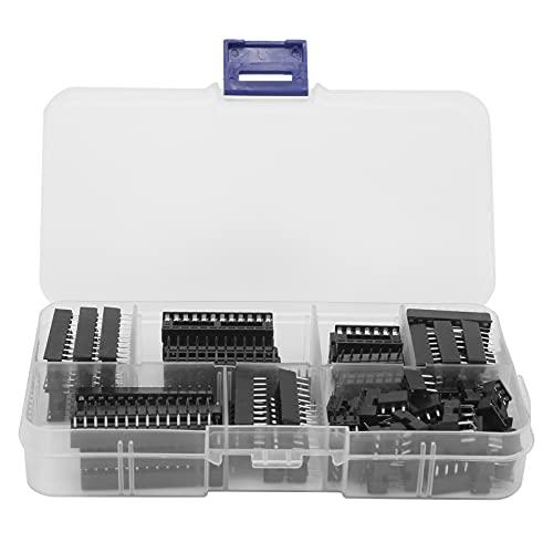 Eosnow Zócalo IC de Clavija Plana, componentes de Circuito Integrado Kit Surtido de IC 66 Piezas para Reparaciones de Placas de Circuito