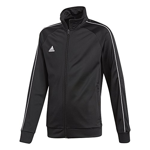 Adidas CE9052 Core 18 Polyester Jacket - Black/White, 11 - 12 Years