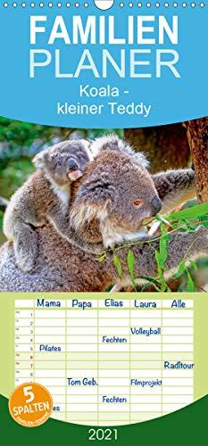 Koala - kleiner Teddy - Familienplaner hoch (Wandkalender 2021, 21 cm x 45 cm, hoch)