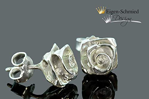 "Goldschmiede Ohrringe Ohrstecker\""roses forever\"" in 925er Sterling Silber, Rose, Rosen, Silberschmuck, Handmade, Unikat, Ohrringe, Accesoirs, Damenschmuck, massiv,"