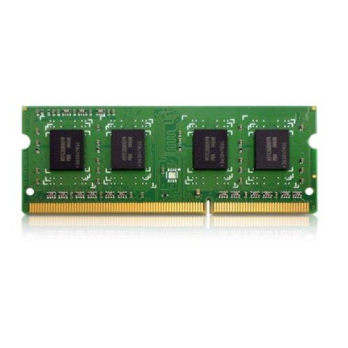 QNAP RAM-2GDR3L-SO-1600 módulo de - Memoria (2 GB, 1 x 2 GB, DDR3, 1600 MHz, 204-pin SO-DIMM, Verde)