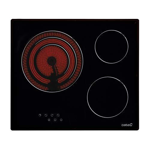 CATA TT 603 Placa Vitrocerámica, 2700 W, Cerámica, Negro