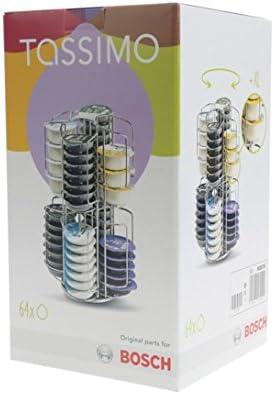 Tassimo - Dispensador de cápsulas giratorias para 64 T-discs