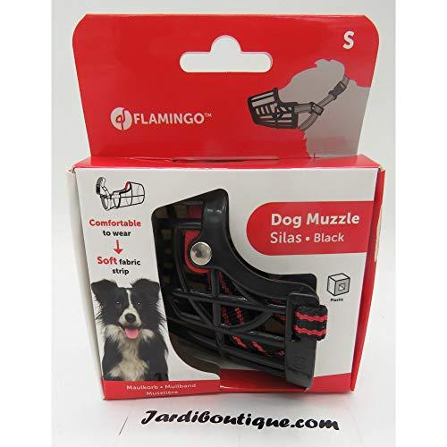 Flamingo - Bozal Silas S Negro 26CM 31-41CM para Perros. - FL-519654
