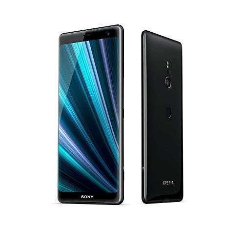 Sony Xperia XZ3 Smartphone 15,2 cm (6 Zoll) QHD+ HDR 18:9 OLED (Snapdragon 845, 4GB RAM, 64GB interner Speicher, 19MP Kamera, Android) Schwarz (Generalüberholt)