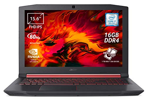 Acer Nitro 5 AN515-52-71TV Notebook Gaming con Processore Intel Core i7-8750H, RAM 16 GB DDR4, 256 GB SSD, 1000 GB HDD, Display 15.6