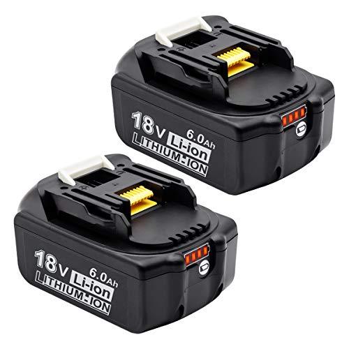 PowerBatteryマキタ 18v バッテリー bl1860b 6.0Ah マキタ18v互換 バッテリーBL1830 BL1840 BL1850 BL1860 ...