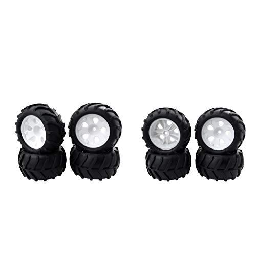 Generic 8X - Neumáticos para rueda de coche (componente para 1/16 RC para Big Foot Truck para WPL, camión de escalada)