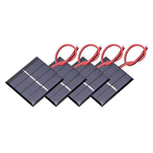 Keenso Solarpanel, 2V Solarpanel 0,36W Solarpanel 4Pcs Ladestromplatine und elektronische Leitung für kleine Elektrogeräte