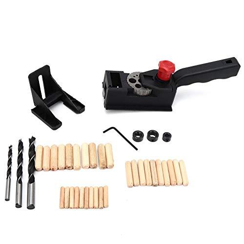 Perforator, houtbewerkingszoeker Rechte perforator met schaalboorzoeker Ronde houten tap DIY-tool Gatboorpositioneerder Houtbewerkingsboor