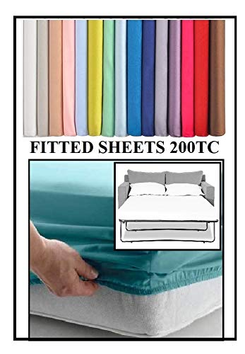 Bedtime Comforts Ltd SOFA BED/PULL OUT BED FITTED SHEET 115cm x 180cm (45' x 71') OVER 22 COLOURS 200 TC (Grey, 4' Depth)