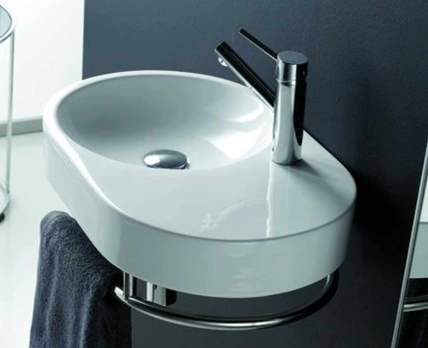 The Bath Collection - Semi-Oval Sink Fuengirola 600 x 380 x 900 mm