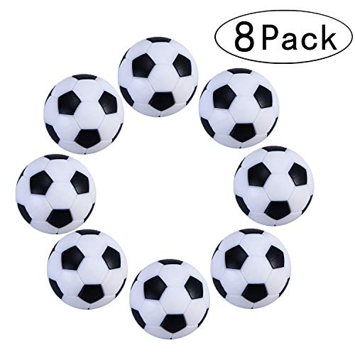 Tadudu Jeu de Foosball de Football de Table,Paquet de 8PCS (Noir et Blanc, 32mm )