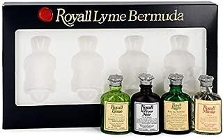 Royall Lyme Bermuda 4 Piece Mini Set for Men by Royall Fragrances (Modern Classic)